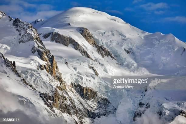 mont blanc summit, peak - pinnacle peak stock pictures, royalty-free photos & images