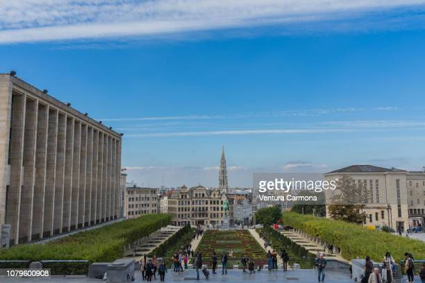 mont des arts in brussels, belgium - região da capital - fotografias e filmes do acervo