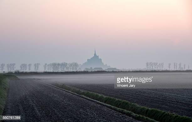 mont saint michel landscape - cotentin photos et images de collection