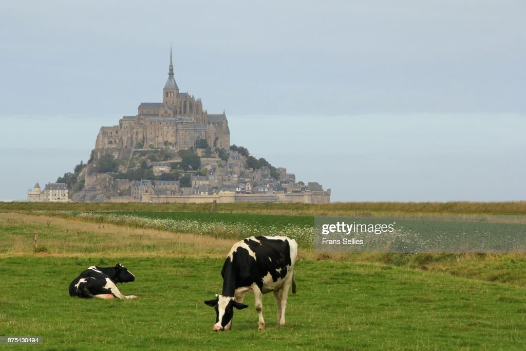 Mont Saint-Michel, France : Stockfoto