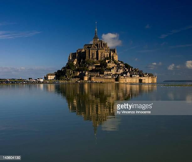 Mont Saint-Michel in open sea