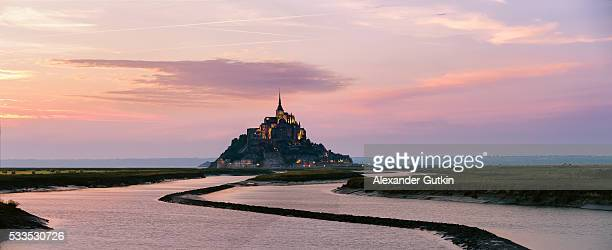 Mont Saint-Michel sunset