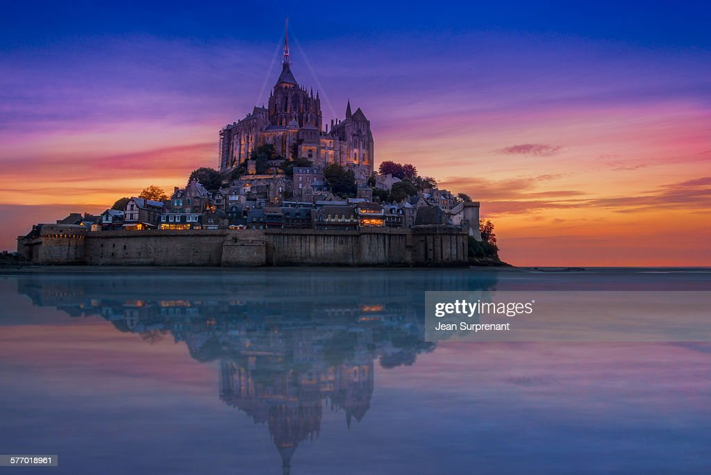 Mont St-Michel reflection : Stock Photo