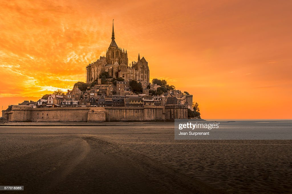 Mont St-Michel Sunset : Stock Photo