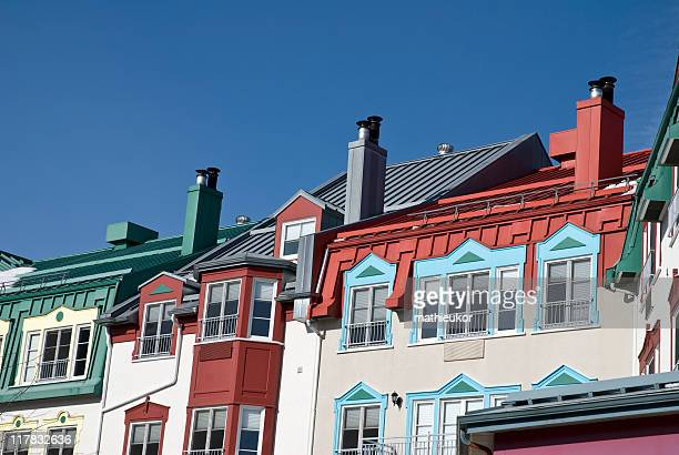 mont tremblant hotels - mont tremblant stock pictures, royalty-free photos & images
