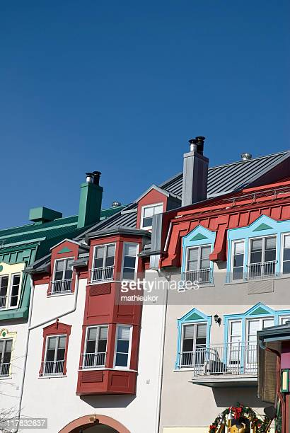 mont tremblant - hotels - mont tremblant stock pictures, royalty-free photos & images