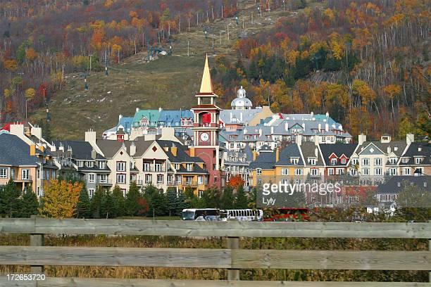 mont tremblant village - mont tremblant stock pictures, royalty-free photos & images