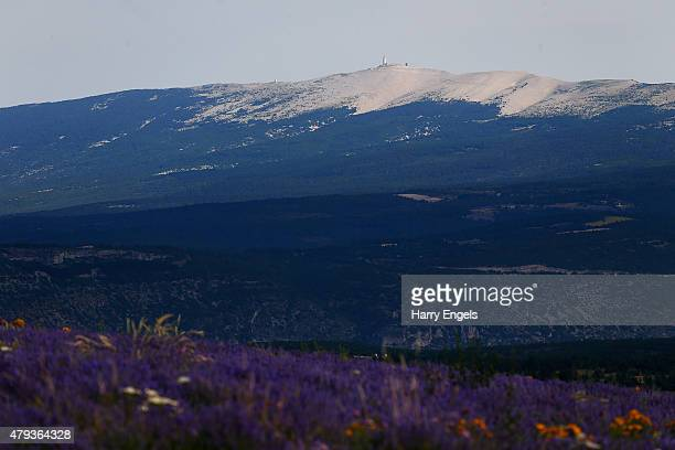 Mont Ventoux is seen at sunrise ahead of the Laureus St James's Place Bike Ride from Provence to Mont Ventoux on July 3 2015 in Gargas France