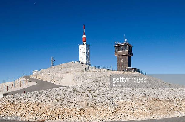 Mont Ventoux The obeservatory atop the mount and blue sky in the background