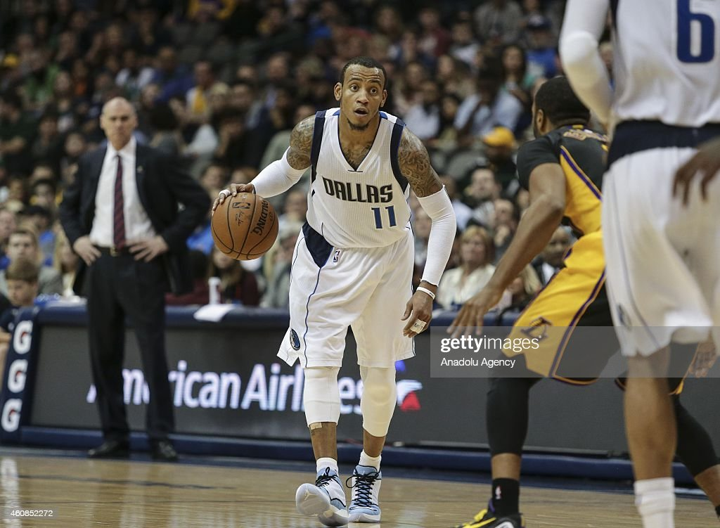 Monta Ellis #11 of the Dallas Mavericks in action against the Los Angeles Lakers during a basketball match on December 26, 2014 at the American Airlines Center in Dallas, Texas.