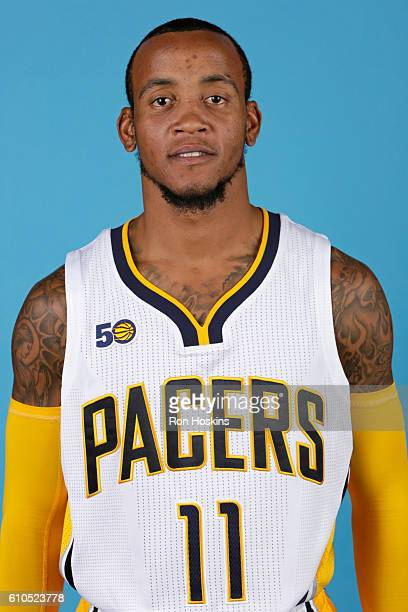 Monta Ellis of the Indiana Pacers poses for a head shot during media day at Bankers Life Fieldhouse on September 26 2016 in Indianapolis Indiana NOTE...