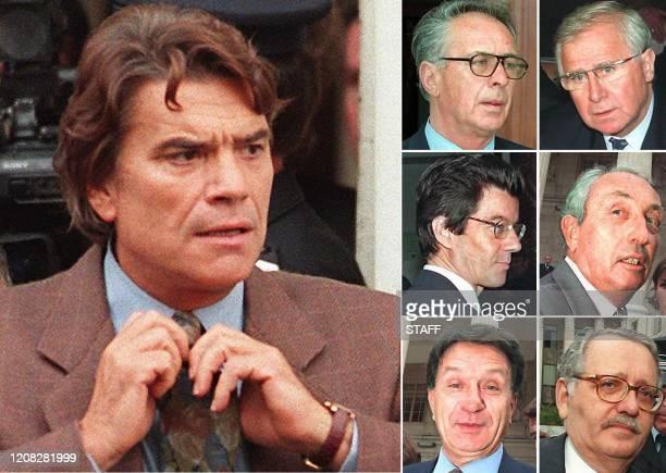 Montage de 7 photos d'archives. La 5e chambre correctionnelle de la cour d'appel d'Aix-en-Provence rejugera, le 24 mars, Bernard Tapie, l'ancien...