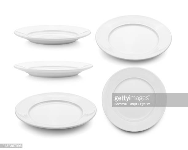 montage of ceramic plates against white background - prato - fotografias e filmes do acervo