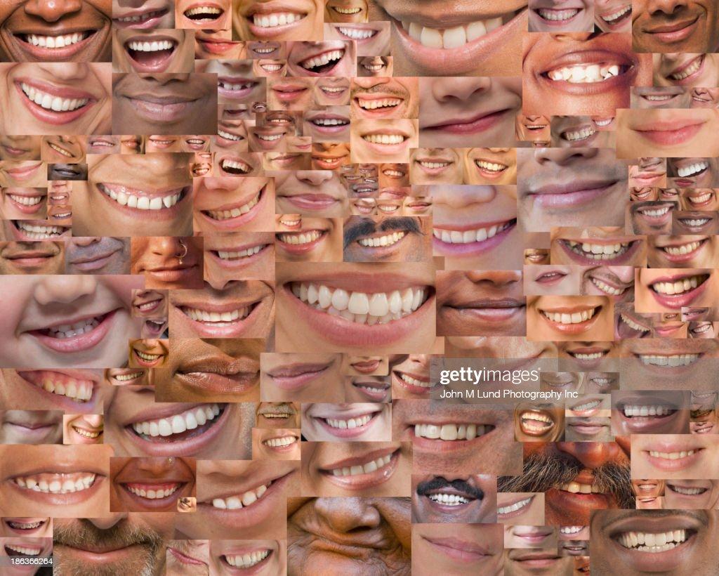 Montage of smiles : Stock Photo