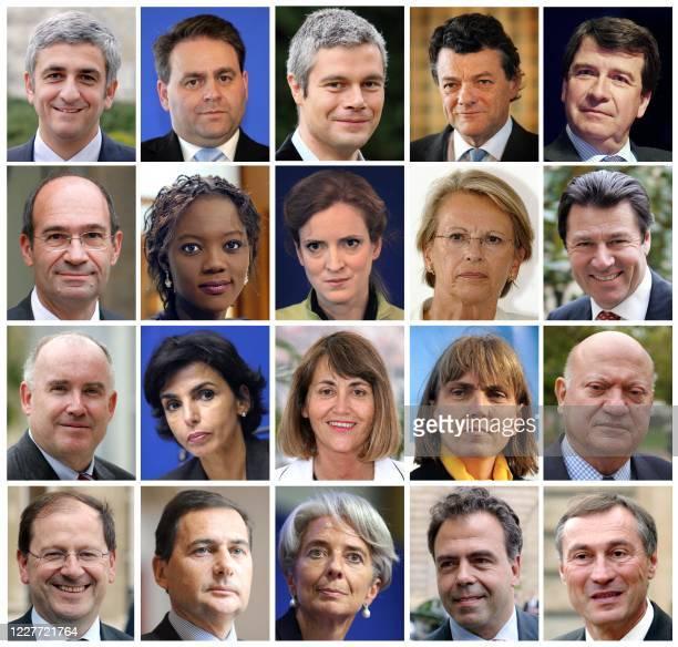 Montage réalisé le 05 février 2008 Montage de portraits récents des onze ministres du gouvernement Fillon, qui se présentent aux élections...