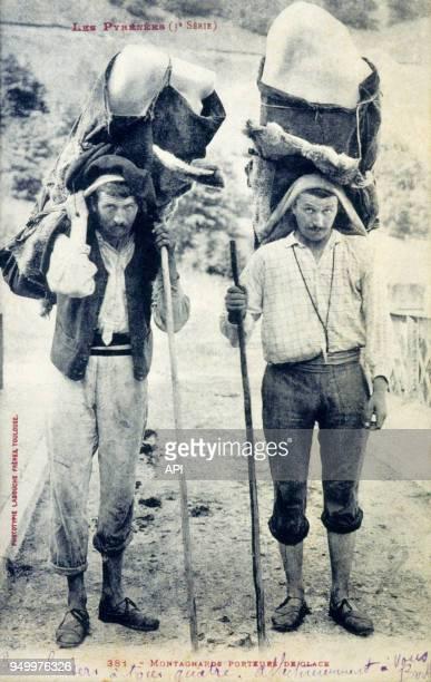 Montagnards porteurs de glace en France
