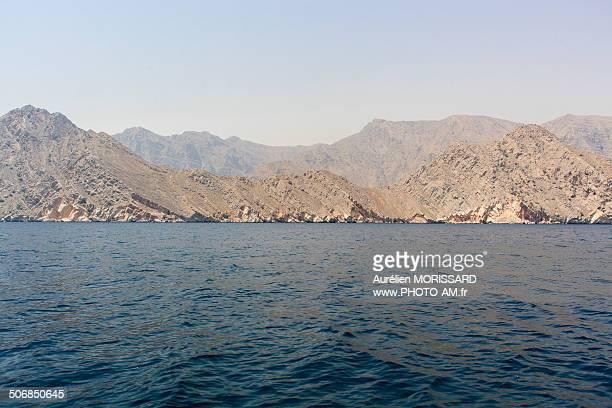 Montagnes et Fjords du Musandam, Oman.