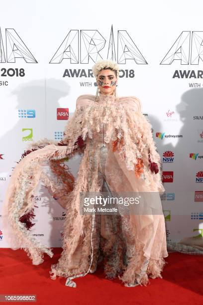 Montaigne arrives for the 32nd Annual ARIA Awards 2018 at The Star on November 28 2018 in Sydney Australia