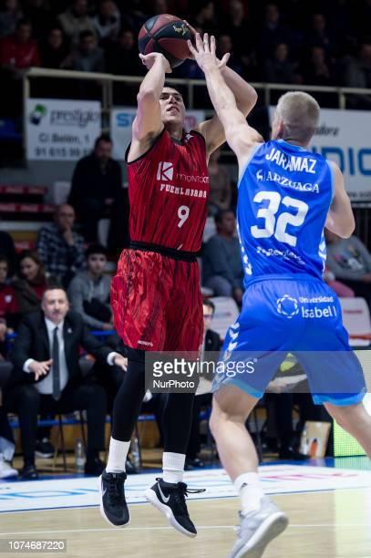 Montakit Fuenlabrada Francisco Cruz and San Pablo Burgos Ognjen Jaramaz during Liga Endesa match between Montakit Fuenlabrada and San Pablo Burgos at...