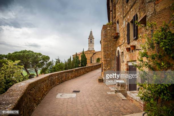 montalcino - siena italy stock photos and pictures