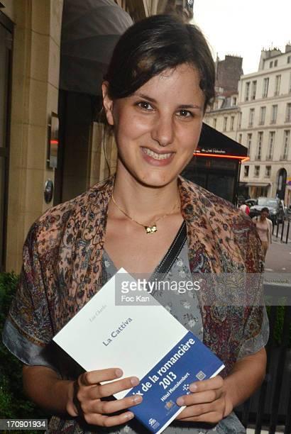 Montalembert 2013 winning writer Lise Charles attends the 'Montalembert Literary Awards 2013' Woman Literary Awards at Hotel Montalembert on June 18...