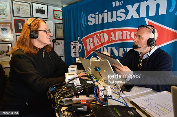 Montana blogger Kathleen Moon is interviewed by Host Michael Smerconish at SiriusXM Red Diner Broadcasts from New Hampshire Primary Coverage Live on...