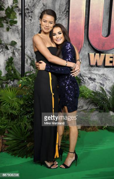 Montana Brown and Amber Davies attend the 'Jumanji Welcome To The Jungle UK premiere held at Vue West End on December 7 2017 in London England