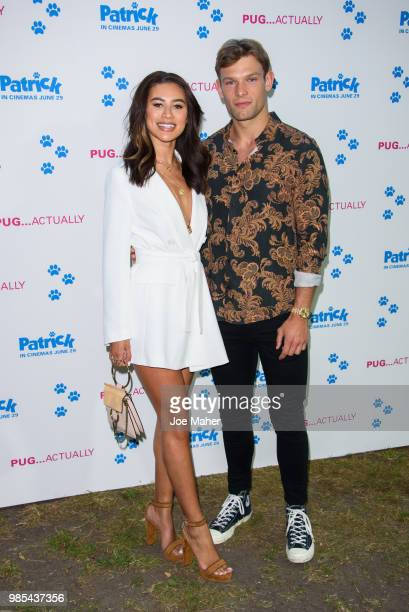 Montana Brown and Elliot Reeder attend the UK premeire of 'Patrick' at an exclusive private London garden on June 27 2018 in London England
