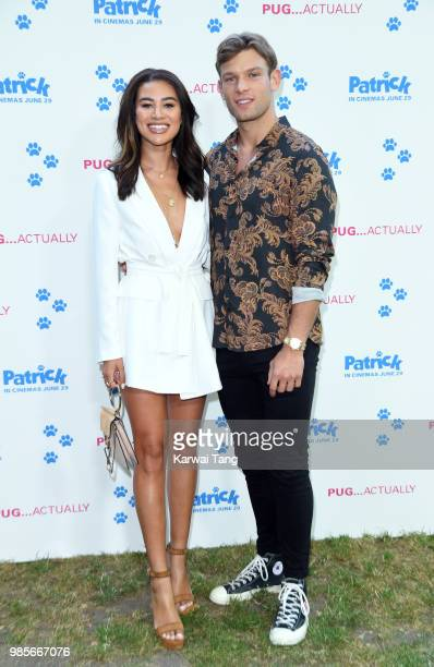 Montana Brown and Elliott Reeder attend the UK premiere of 'Patrick' on June 27 2018 in London England