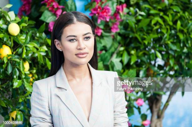 Montana Brown arrives for the world film premiere of 'Mamma Mia Here We Go Again' at Eventim Apollo Hammersmith in London July 16 2018 in London...