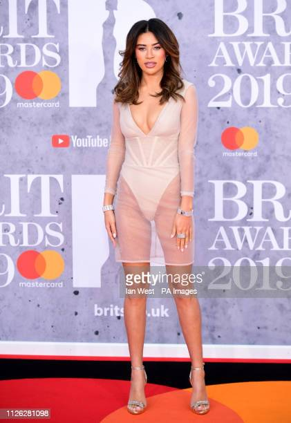 Montana Brown attending the Brit Awards 2019 at the O2 Arena London
