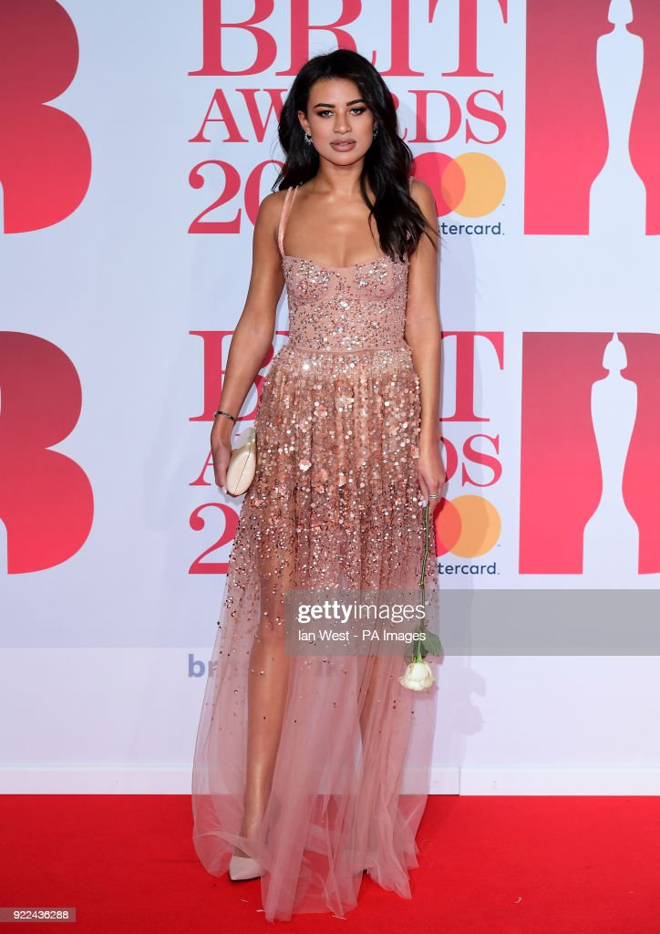 Montana Brown attending the Brit Awards at the O2 Arena, London