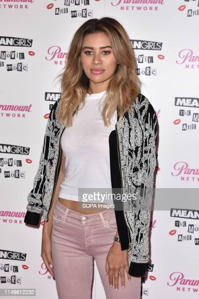 Montana Brown attends a photocall during the Paramount Network presentation of Mean Girls The Movie and More in London