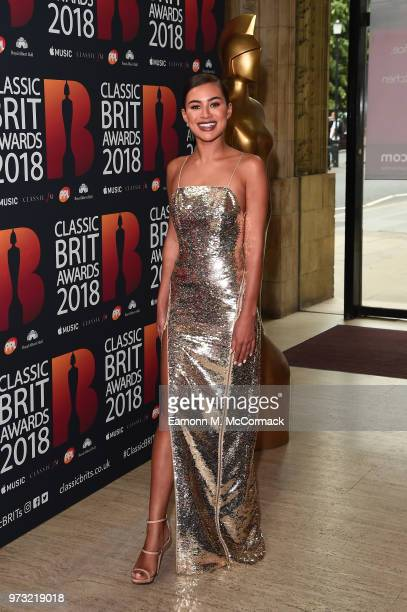 Montana Brown attends the 2018 Classic BRIT Awards held at Royal Albert Hall on June 13 2018 in London England