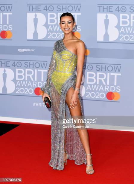 Montana Brown attends The BRIT Awards 2020 at The O2 Arena on February 18 2020 in London England