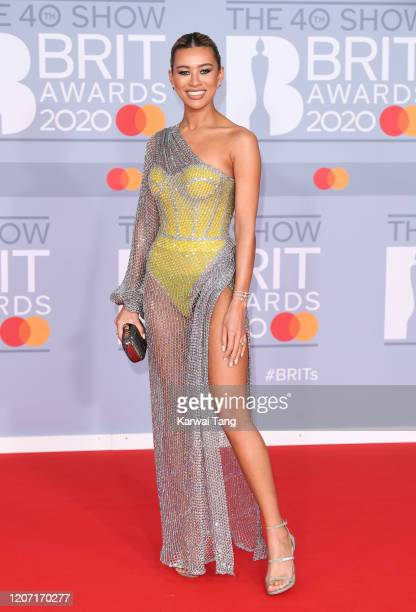 Montana Brown attends The BRIT Awards 2020 at The O2 Arena on February 18, 2020 in London, England.