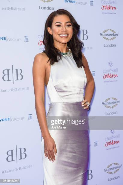 Montana Brown attends The Caudwell Children Butterfly Ball at Grosvenor House on June 14 2018 in London England