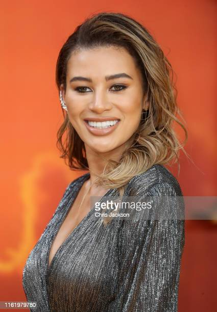 """Montana Brown attends """"The Lion King"""" European Premiere at Leicester Square on July 14, 2019 in London, England."""