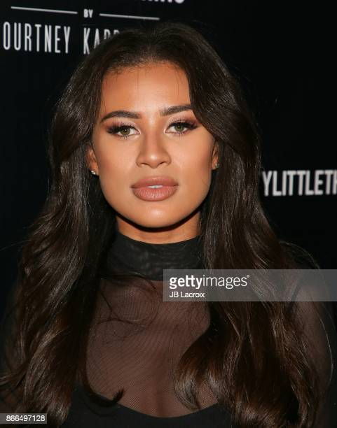 Montana Brown attends the PrettyLittleThing By Kourtney Kardashian Launch on October 25 2017 in Los Angeles California