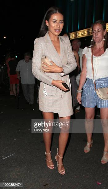 Montana Brown seen attending Mamma Mia Here We Go Again UK film premiere afterparty at Hammersmith Apollo on July 16 2018 in London England