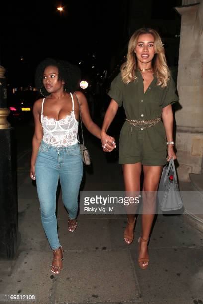 Montana Brown seen on a night out at Sexy Fish restaurant in Mayfair on August 23 2019 in London England