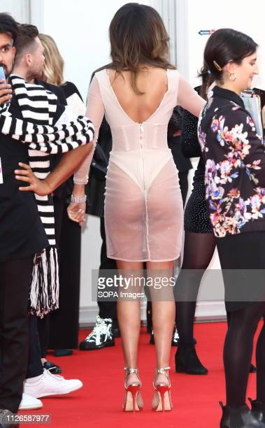 Montana Brown seen on the red carpet during The BRIT Awards 2019 at The O2 Peninsula Square in London