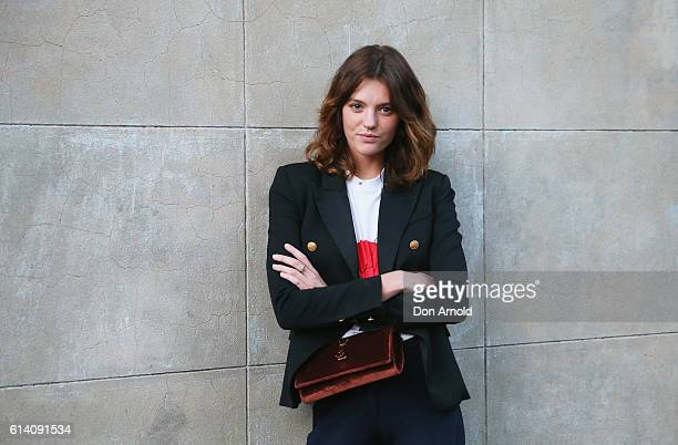 Montana Cox arrives ahead of the Broadsheet Restaurant opening on October 12 2016 in Sydney Australia