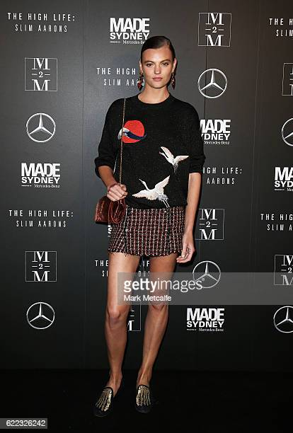 Montana Cox arrives ahead of the premiere of The High Life Slim Aarons during MADE Sydney at Carriageworks on November 11 2016 in Sydney Australia