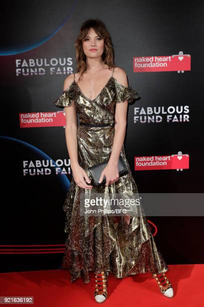 Montana Cox attends the Naked Heart Foundation's Fabulous Fund Fair during London Fashion Week February 2018 at The Roundhouse on February 20 2018 in...