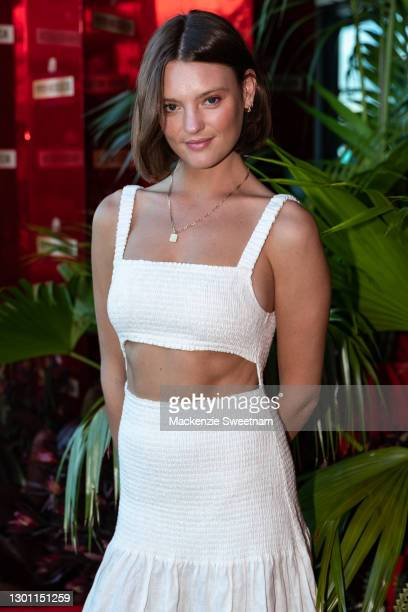 Montana Cox attends the Piper-Heidsieck Champagne Bar during the 2021 Australian Open at Melbourne Park on February 09, 2021 in Melbourne, Australia.