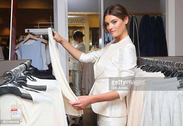 Montana Cox checks out merchandise inside the David Jones Castlereagh St store during the Boxing Day sales on December 26 2015 in Sydney Australia...
