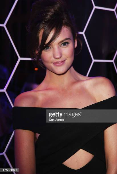 Montana Cox poses during the after party at the David Jones Spring/Summer 2013 Collection Launch at David Jones Elizabeth Street on July 31 2013 in...