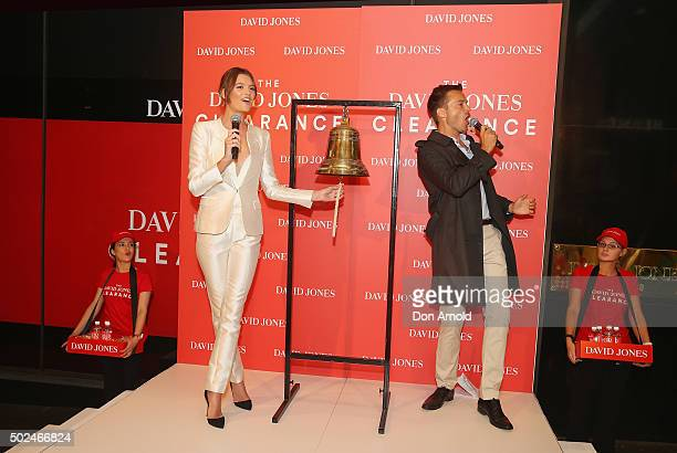 Montana Cox rings the bell and James Kerley announces the official start of the Boxing Day sales on December 26 2015 in Sydney Australia Boxing Day...