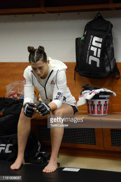 Montana De La Rosa waits backstage during the UFC Fight Night event at Bon Secours Wellness Arena on June 22 2019 in Greenville South Carolina